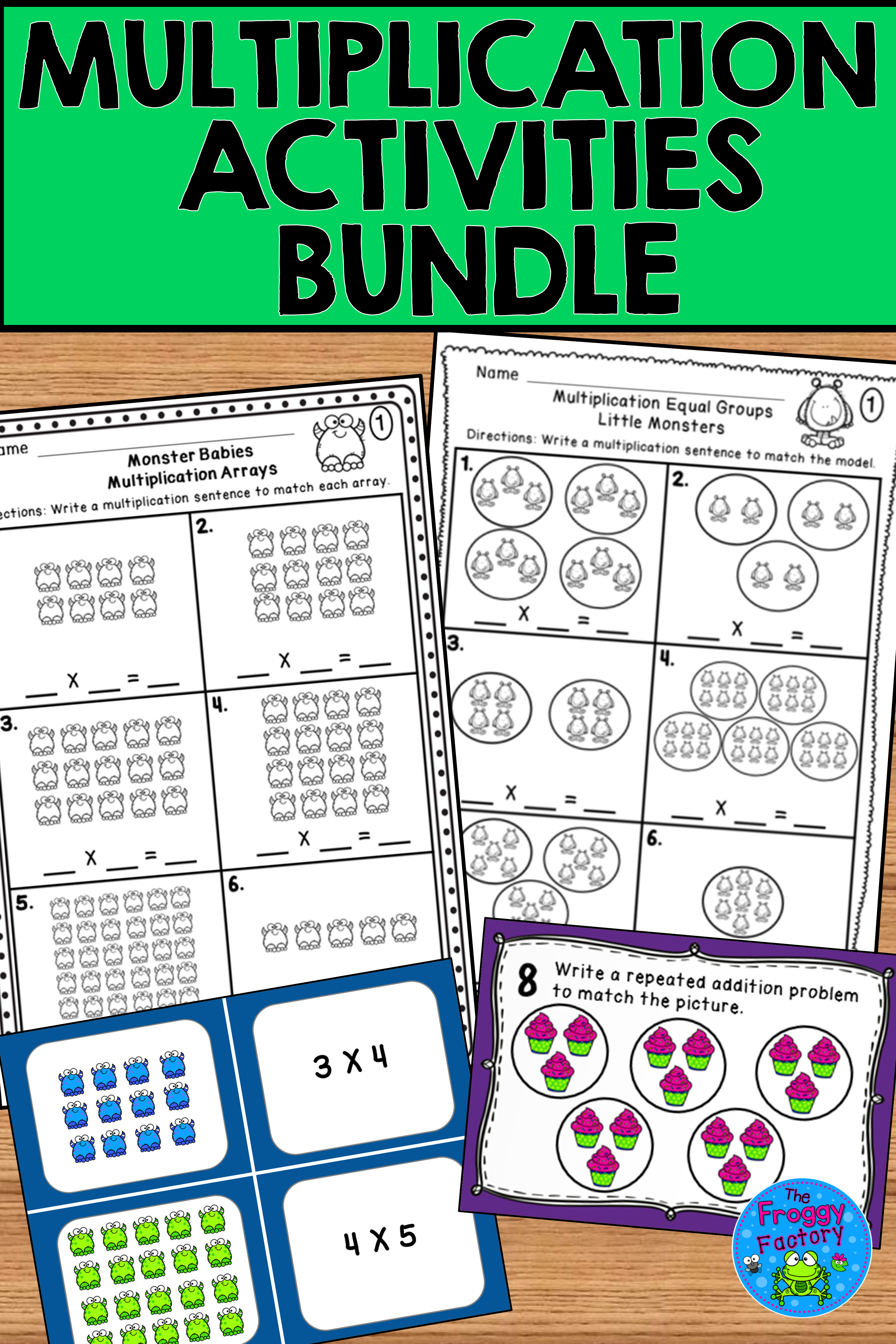 Multiplication Activities Bundle Math Stations Guided Math Multiplication [ 4500 x 3000 Pixel ]