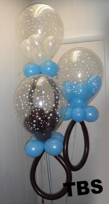 Unique Baby Shower Centerpieces | Baby Shower Balloon Rattles