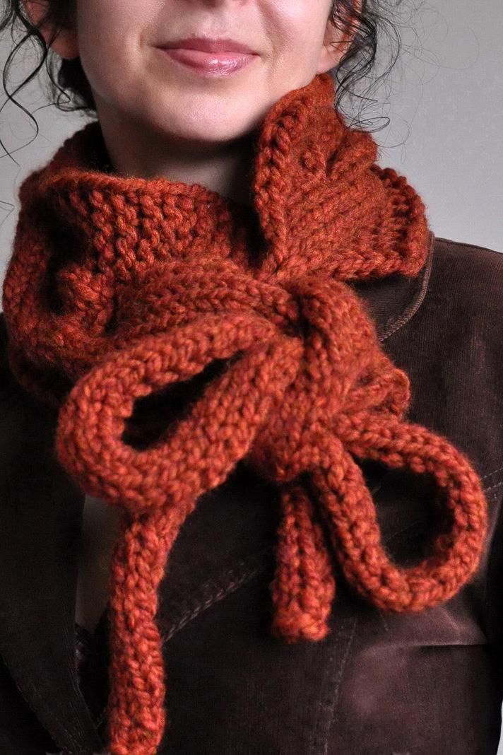 Hand Knit Chunky Designer Cable Neckwarmer Scarf Cowl Collar Wrap