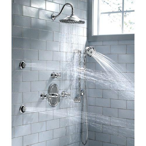 Portsmouth Central Dual Shower Faucet Trim Kit With Lever Handle Banos Modernos Muebles De Bano Y Banos
