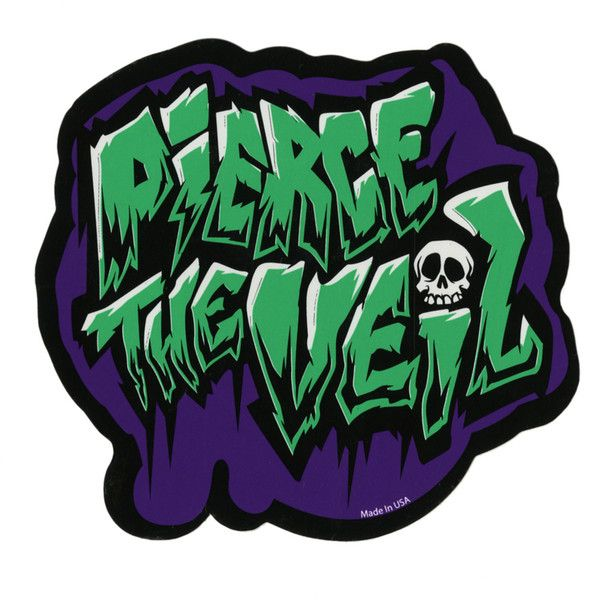 Pierce the veil logo sticker hot topic 2 99 ❤ liked on polyvore featuring