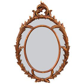 Oval Wall Mirror Chippendale Gold Leaf Delicate Scroll Work New