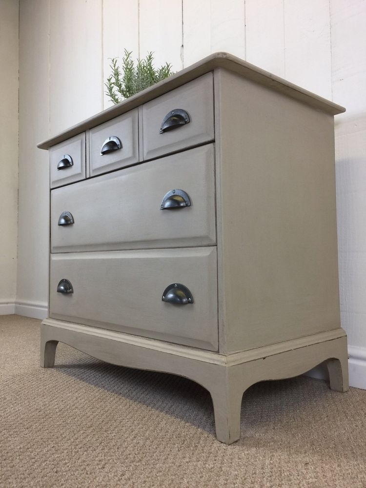 Best Cream Painted Small Stag Rustic Farmhouse Style Chest Of 400 x 300