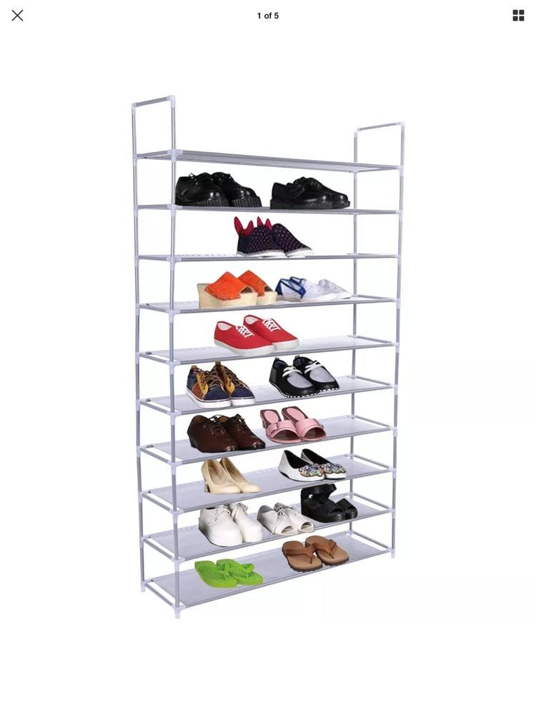 50 Pair 10 Tier Space Saving Storage Organizer Free Standing Shoe Tower Rack #Unbranded- Listed on #eBay by a seller to benefit #ArkofHope