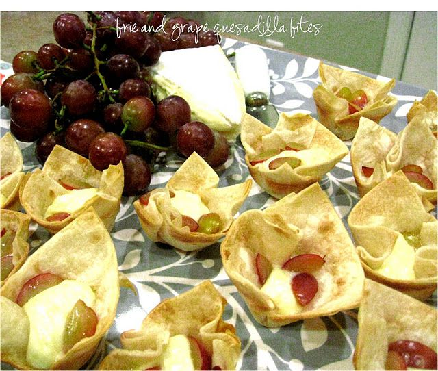 Brie And Grape Quesadilla Bites This Little Appetizer Was
