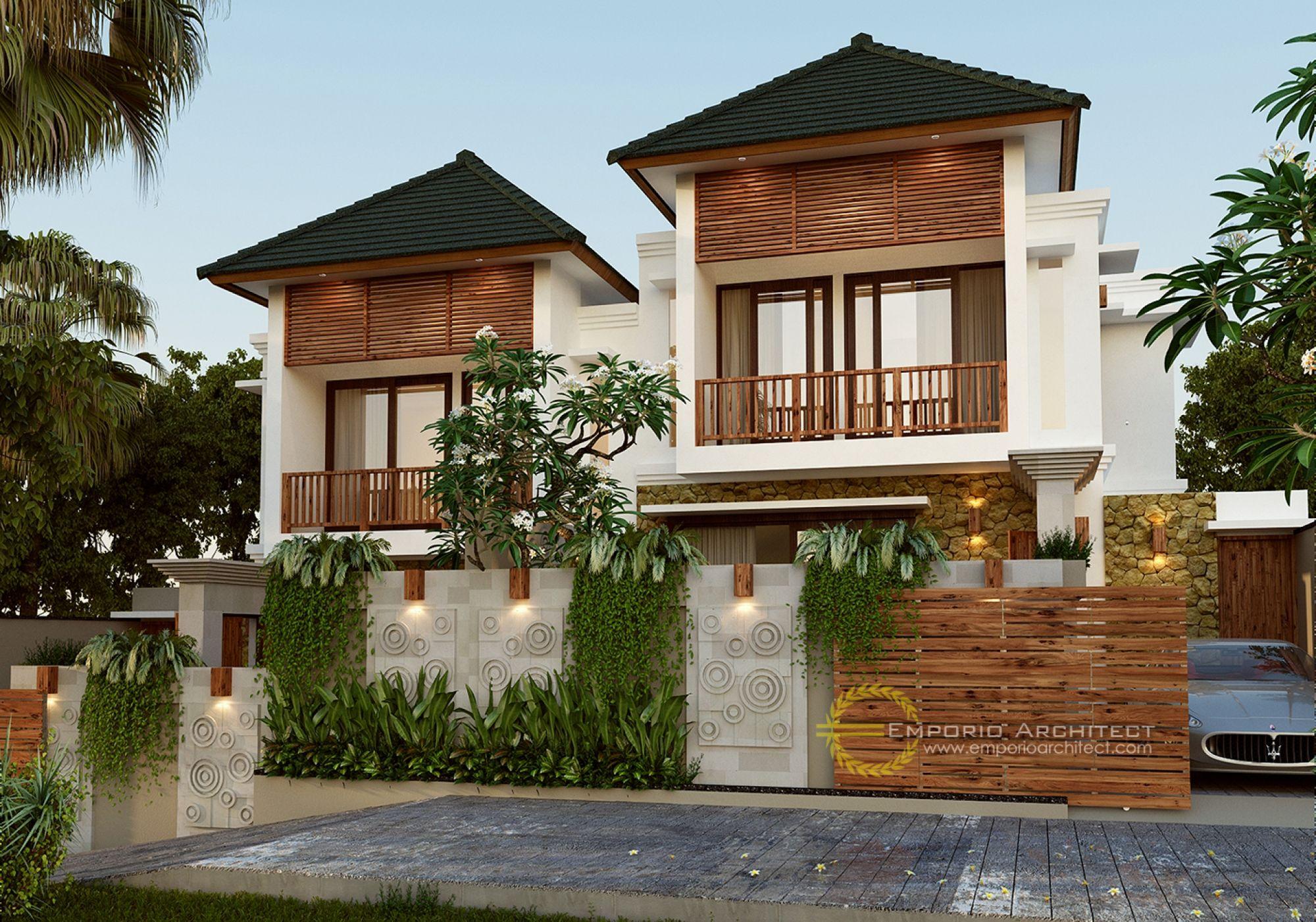Desain Perumahan Ibu Ratna Di Saba Beach Gianyar Bali Desain Rumah Eksterior Desain Fasad Rumah Pantai