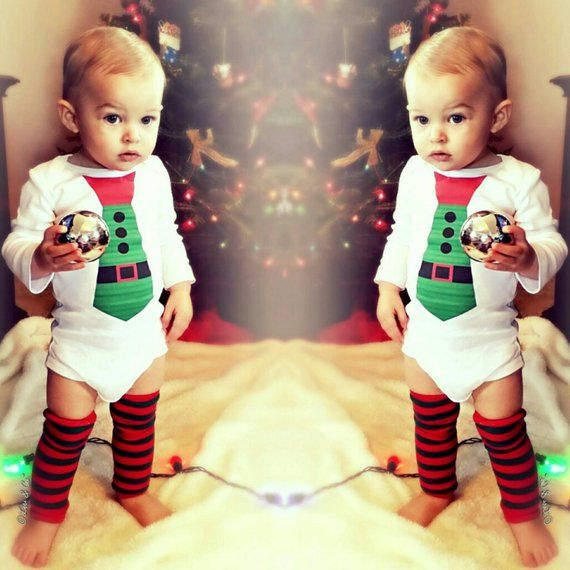 Santa Tie Newborn Infant Baby Boy Christmas Outfit Baby Boy Clothes