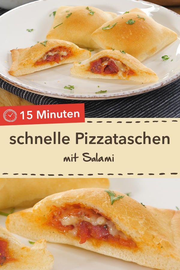 Schnelle Pizzataschen #fingerfoodrezepteschnelleinfach