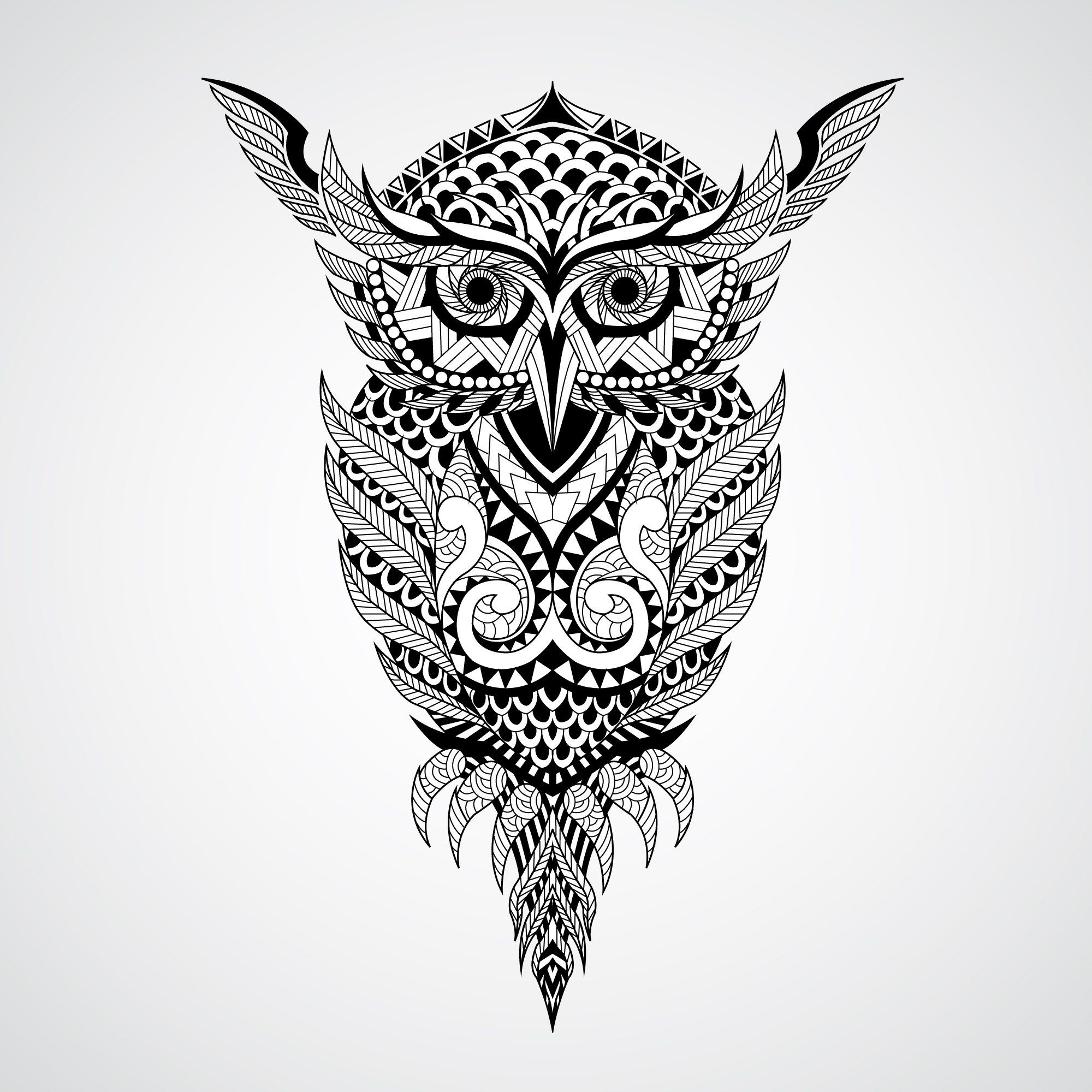 Geometrical owl vector art Free Vector cdr Download in 2019   FREE T