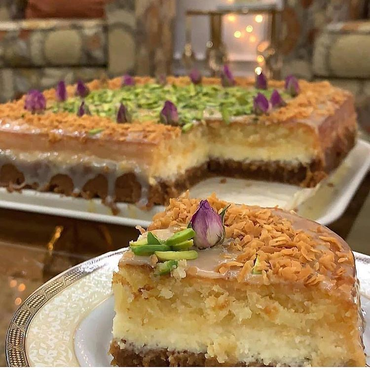 بسبوسة تشيز كيك Dessert Recipes Desserts Recipes