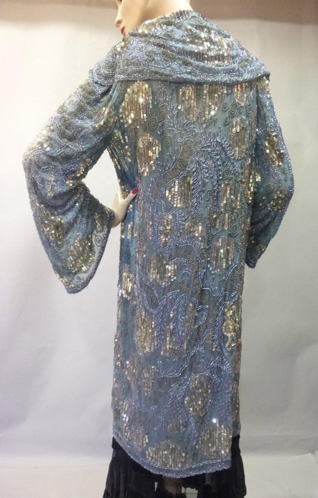 Embroidered and sequined evening coat, c. 1925.