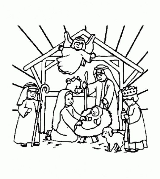 The Best christmas religious coloring pages -    coloring - new coloring page of a hockey player