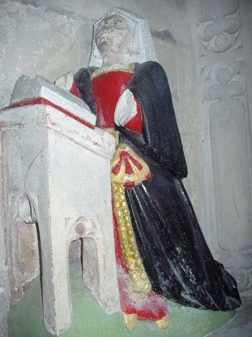 Lady Jane Dawtrey (née Shirley). 1542.  English.  Petworth, Sussex: St. Mary's Church. Tudor Effigies