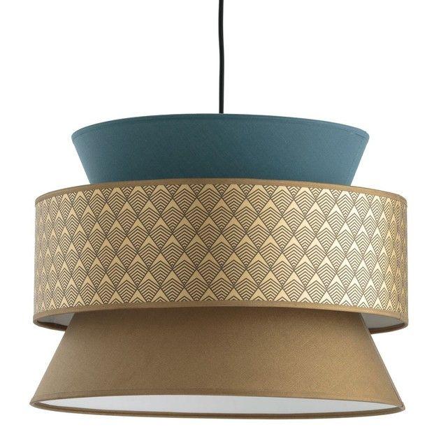 Suspension 3 Abat Jour Dolkie La Redoute Interieurs Lampe Art Deco