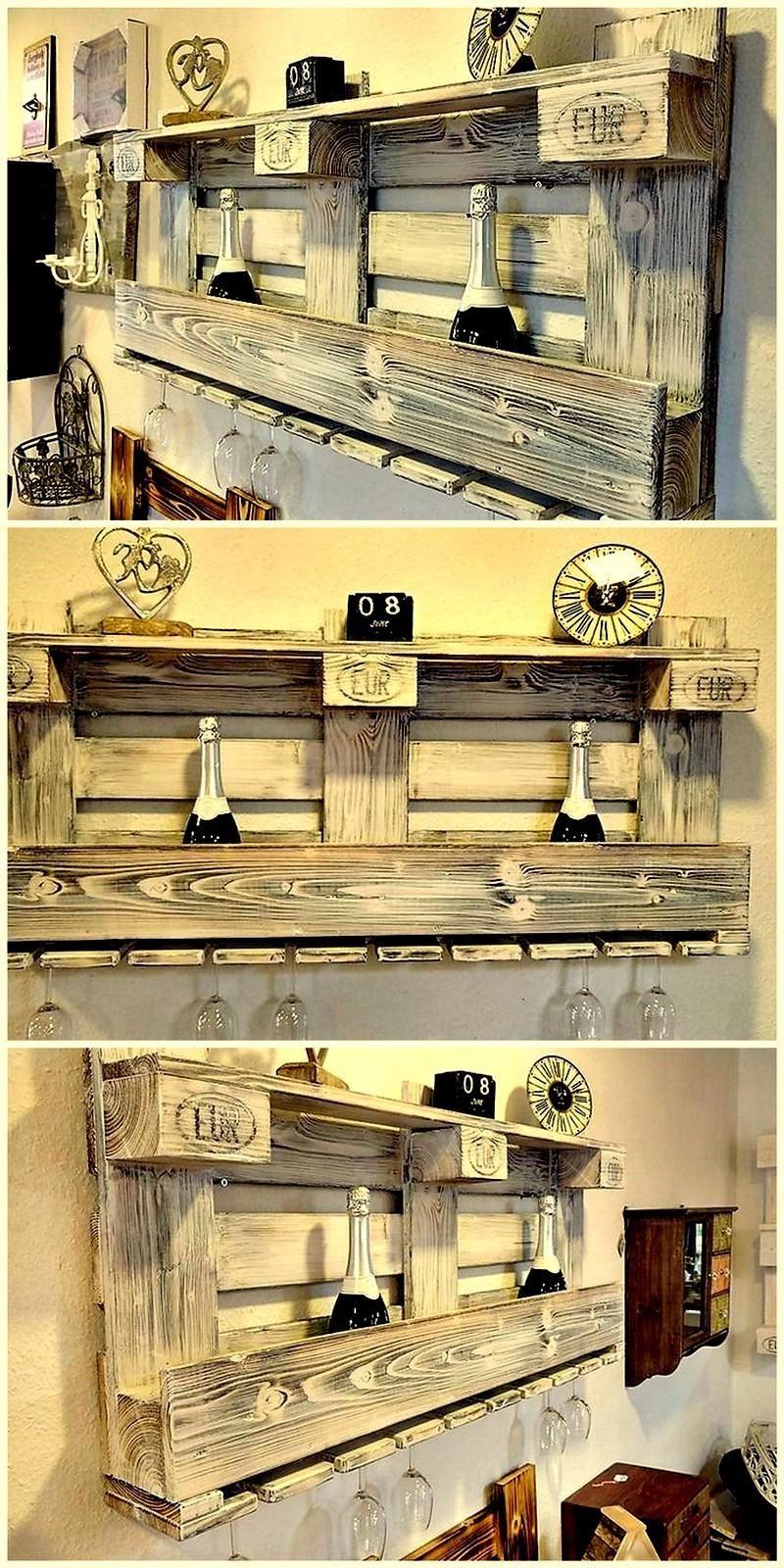15+ Ways to Reutilize Pallet wood   Pallet wine racks, Pallet wine ...
