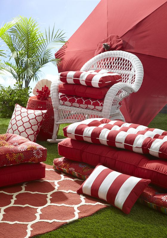 Bold Patterns And Bright Outdoor Cushions And Pillows Can