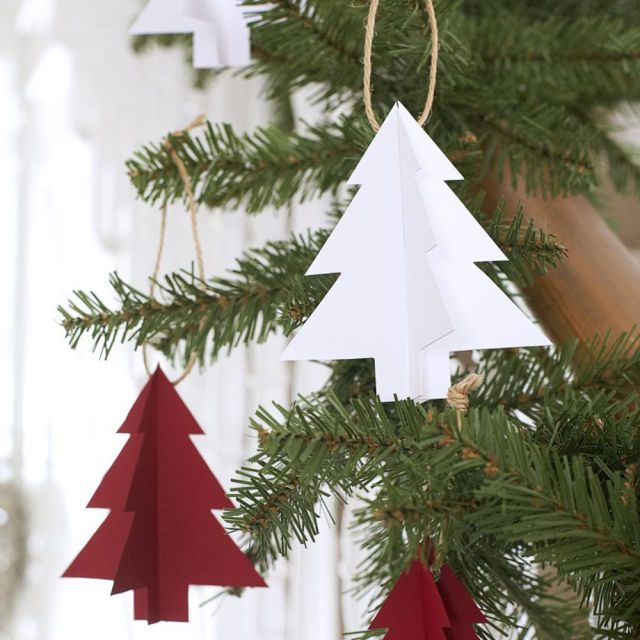 How to make paper Christmas tree decorations Tree decorations