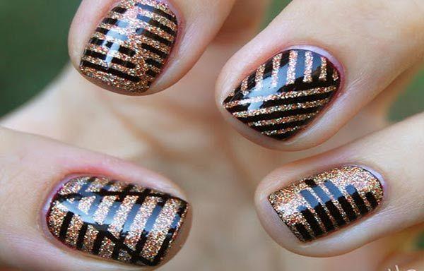 Diseños De Uñas Con Rayas Diseños Nail Art Nails Y Nail Designs