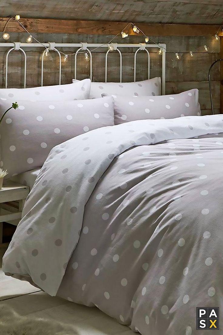 Polka Gray Dots Duvet Covers 100/% Cotton Reversible Luxury White Duvet Cover Set