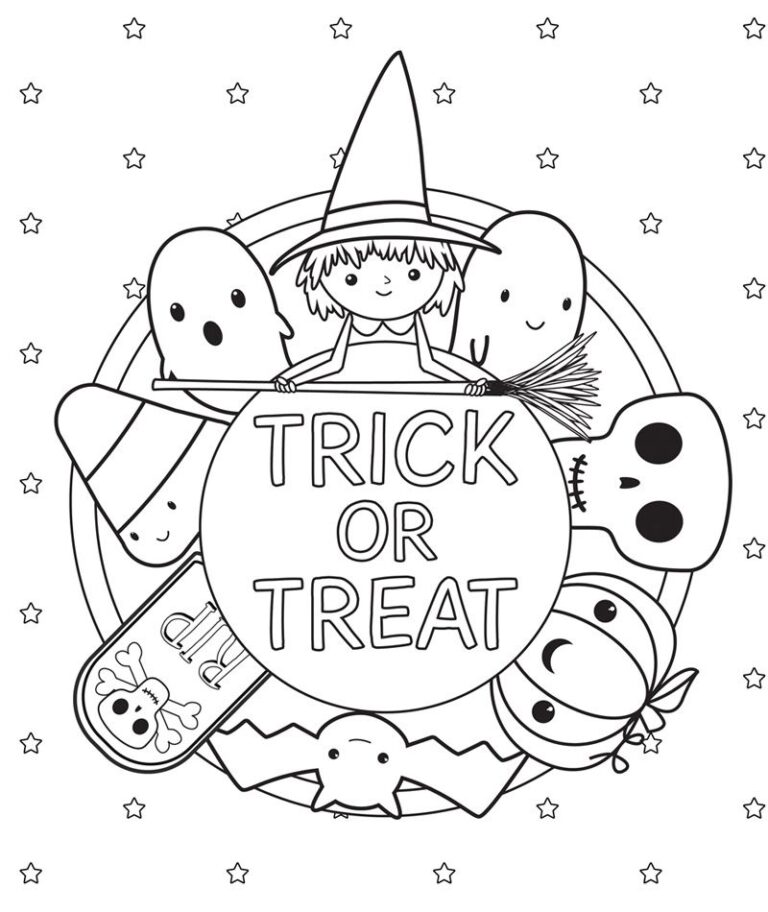Halloween Coloring Page 2020 Happy Halloween 2020 in 2020 | Free halloween coloring pages, Cute