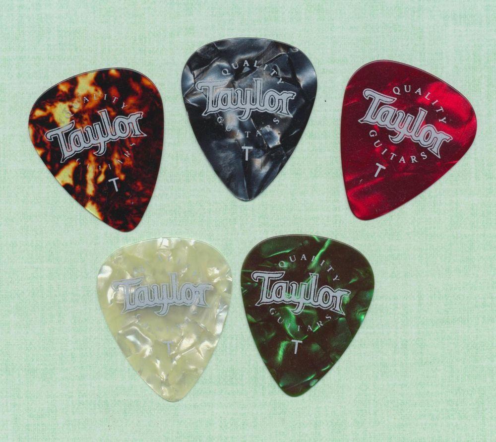 Taylor guitar picks thin gauge set of 5 different colors NOS #Taylor #GuitarPicks