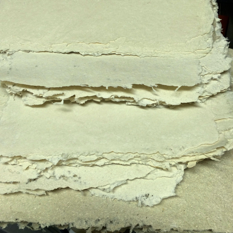 Handmade hemp paper