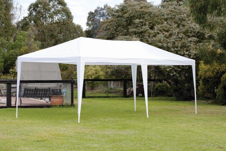3x6m Gazebo Waterproof Marquee Heavy Duty Canopy Outdoor Garden Party Tent White