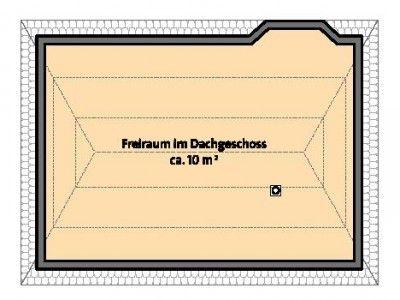 Grundriss DG Spitzboden Einfamilienhaus, Bungalow