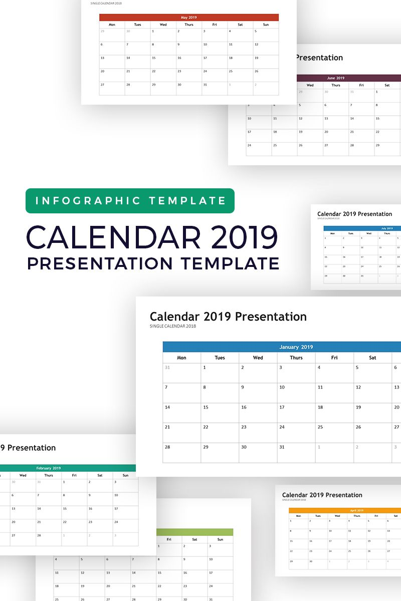 Calendar 2019 Infographic Powerpoint Template 74264