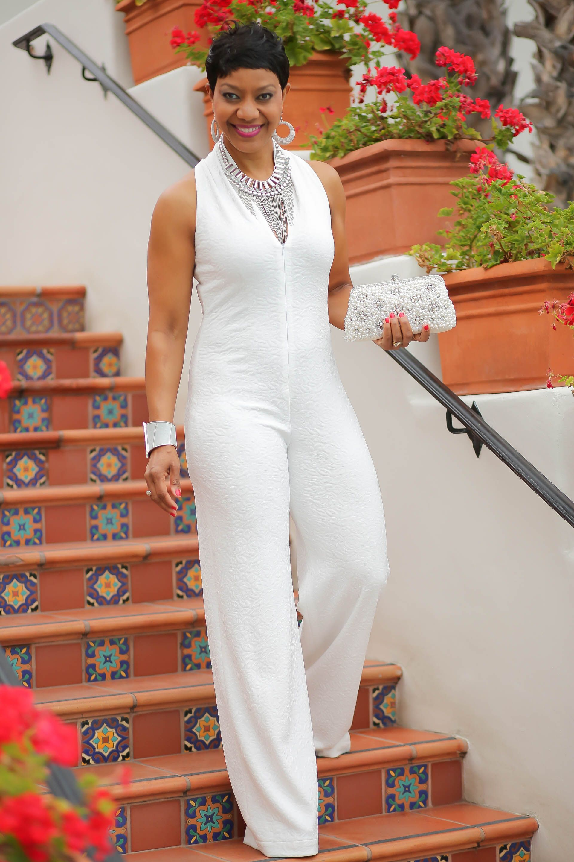 All White Jazz Night White Jumpsuit Pinterest White Outfits