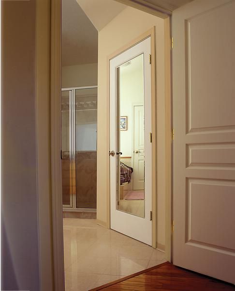 Jeld Wen Interior Door Impression Beveled Mirror On A Hollow Core Molded  Panel