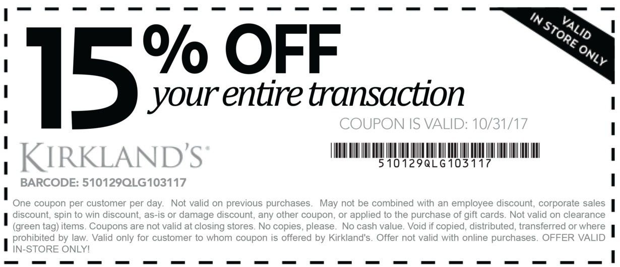 photo relating to Kirklands Printable Coupons Mommy Saves Big identify Kirklands Coupon codes Mommy Will save Large / Generate In direction of Maturity Vs