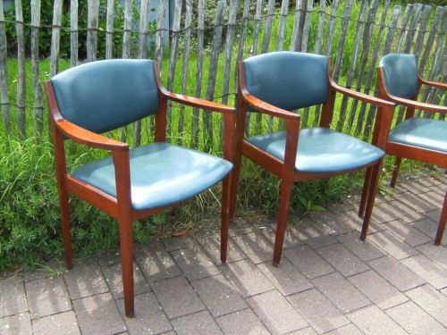 Danish Design 60er 70er Jahre 4 Armlehn Stuhle 60s 70s Dining Chairs Teak Ton Haus Deko Wohnzimmer Ideen Teak