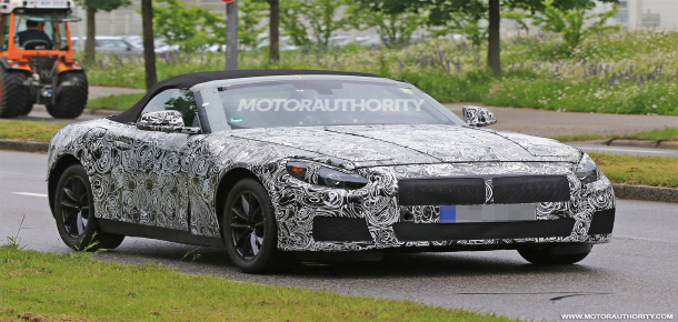 A heavily camouflaged BMW Z5 test mule was spotted doing