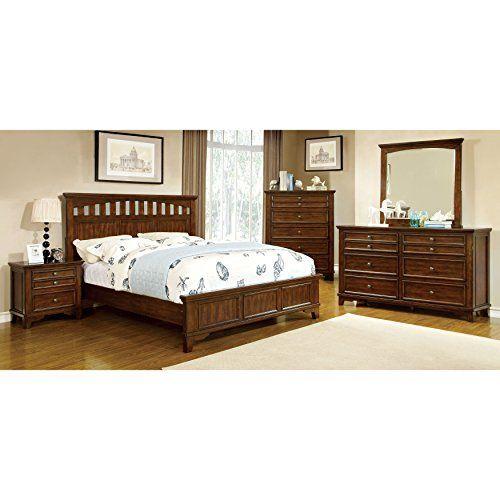 Furniture of America Farmstead Rustic 4piece Bedroom Set King