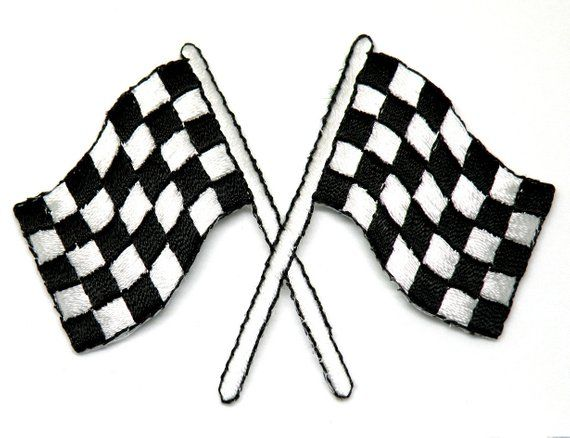 Race Flags Racing Racing Car Birthday T Patch Iron On Patch Race