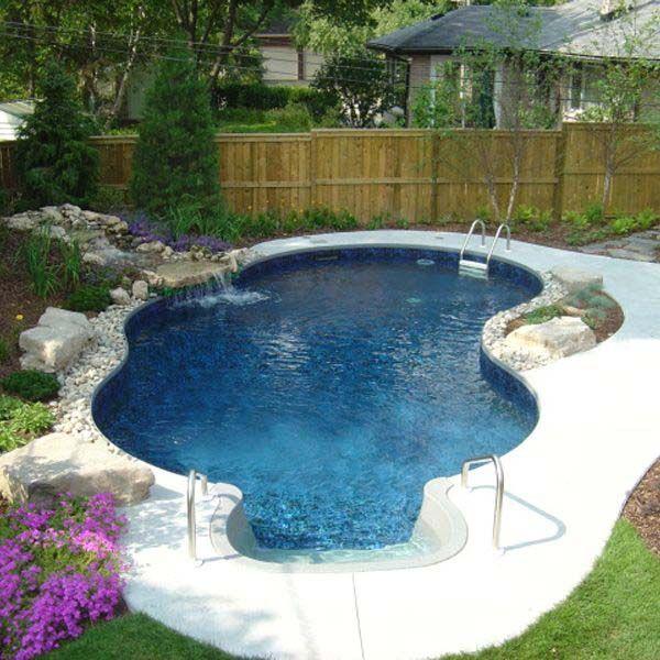 28 Mindbogglingly Alluring Small Backyard Designs Beautified By Swimming Pools Small Backyard Design Small Pool Design Small Backyard Pools