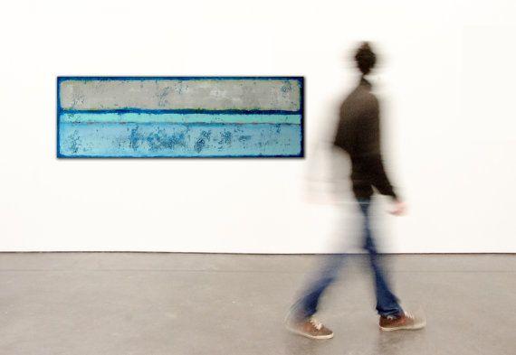 Landscape Abstract painting  Blue Landscape  door RonaldHunter, $399.00