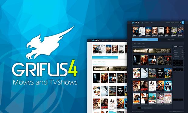 Grifus WordPress theme movies, con un diseño nuevo, muy fresco y ...