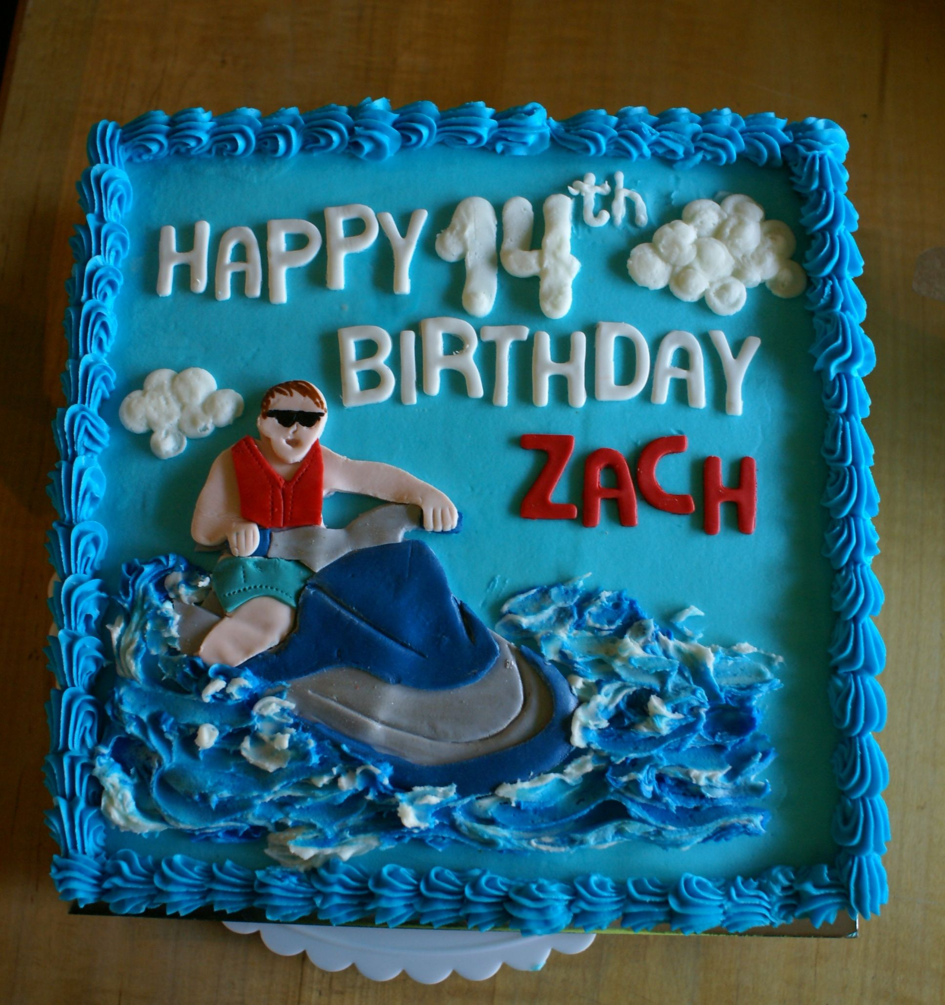 Buttercream Iced Jet Ski Themed Cake Kids Party Planning Themed Cakes 18th Birthday
