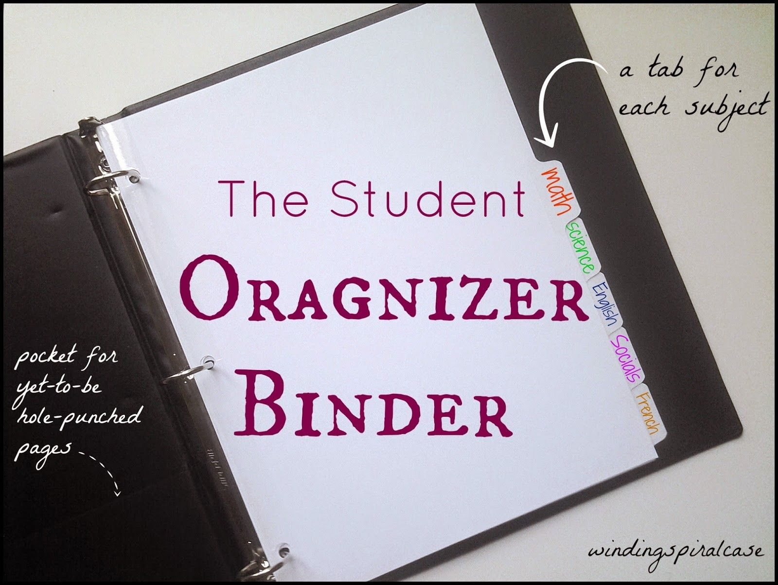 Student Organizer Binder -- how I kept my study notes ...