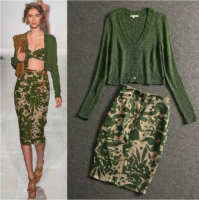 High Fashion Knitting : High quality new winter fashion designer runway suit