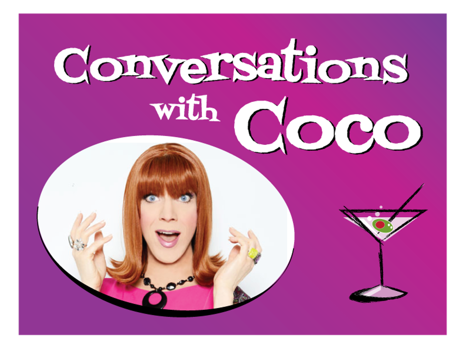 Help drag icon Coco Peru film a pilot of her conversation show with Hollywood stars! Some series proceeds help Los Angeles LGBT Center.