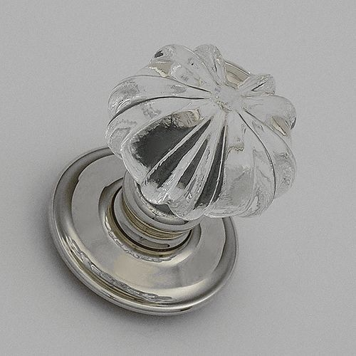 Handmade Ribbed Clear Glass Door Knobs | New Condo | Pinterest ...