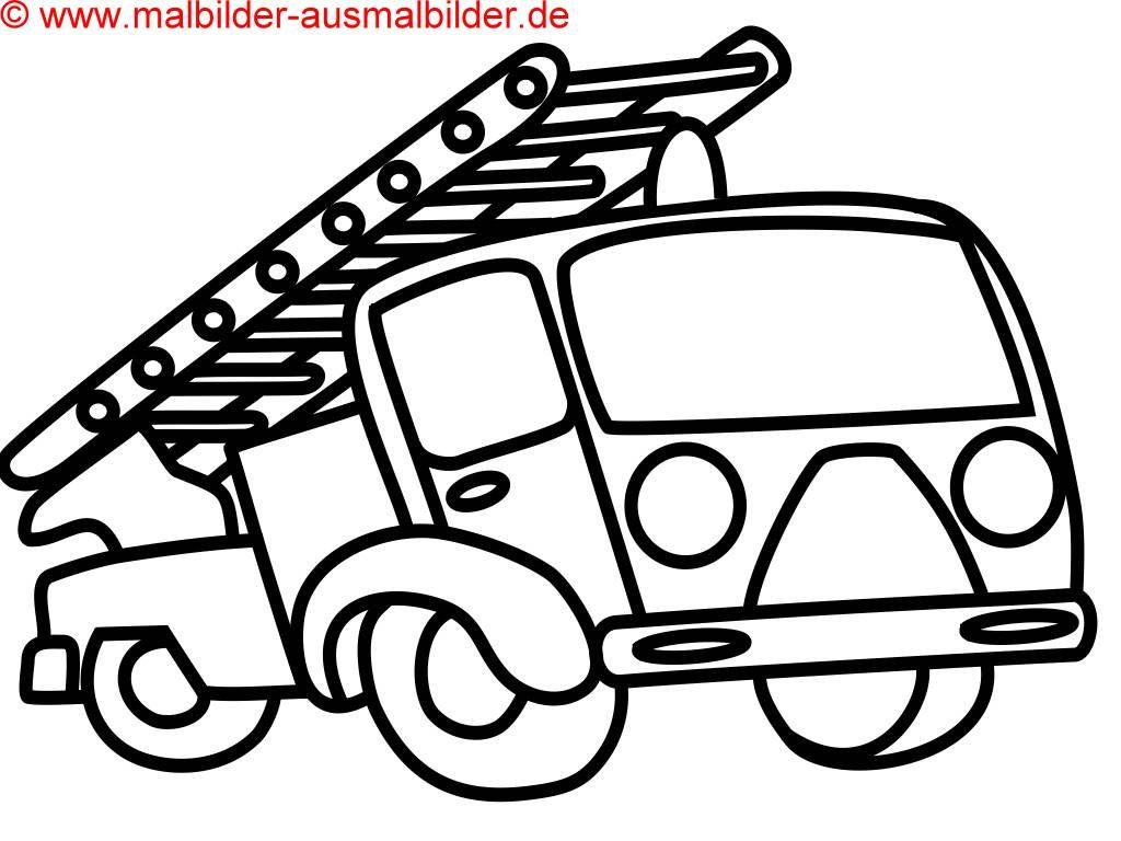 Ausmalbilder Für Kinder Auto : Feuerwehrauto Zum Ausmalen Ausmalbilder F R Kinder Malvorlagen