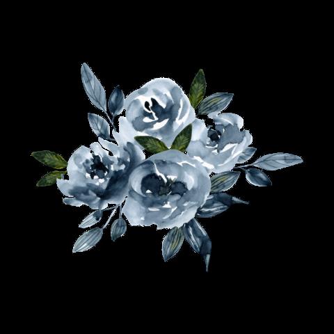 Discover Trending Flower Stickers Lukisan Bunga Bunga Biru Poster Bunga