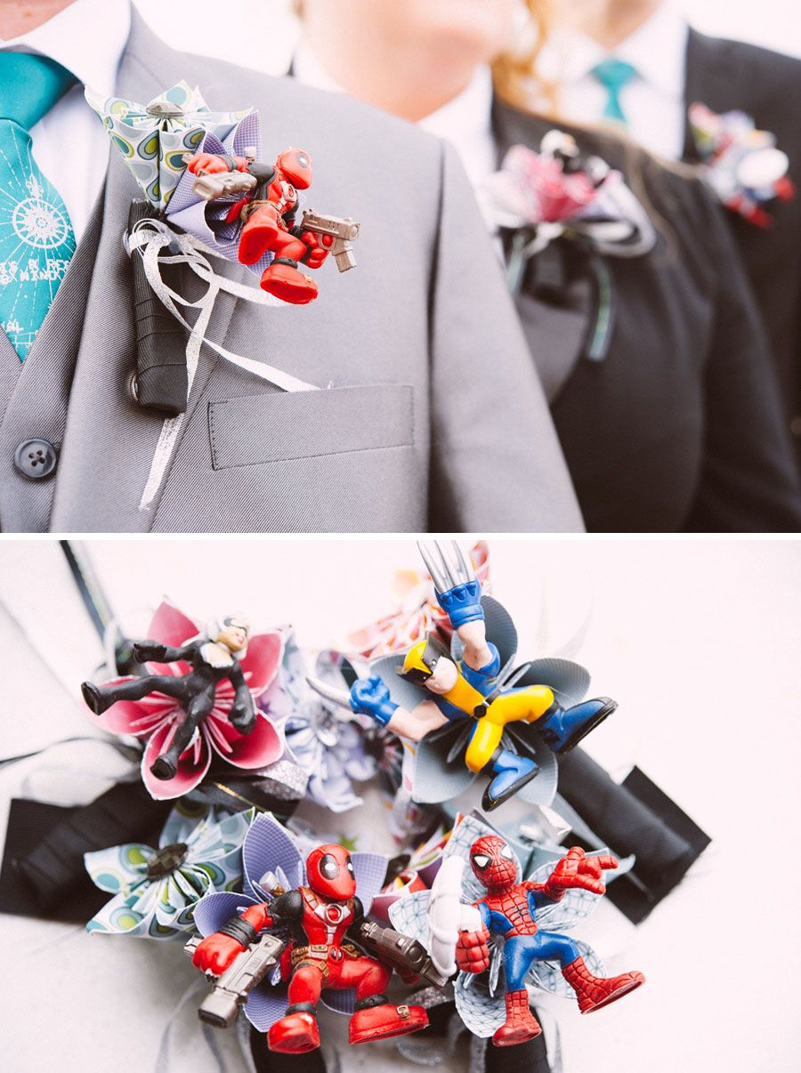 A Wedding with Colorful Comic Book Charm {Cosmopolitan | Pinterest ...