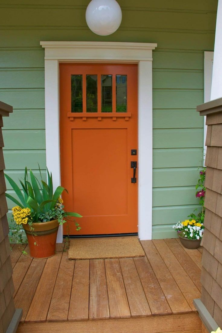 37 best farmhouse front door ideas to give your neighbors on valspar 2021 paint colors id=97069