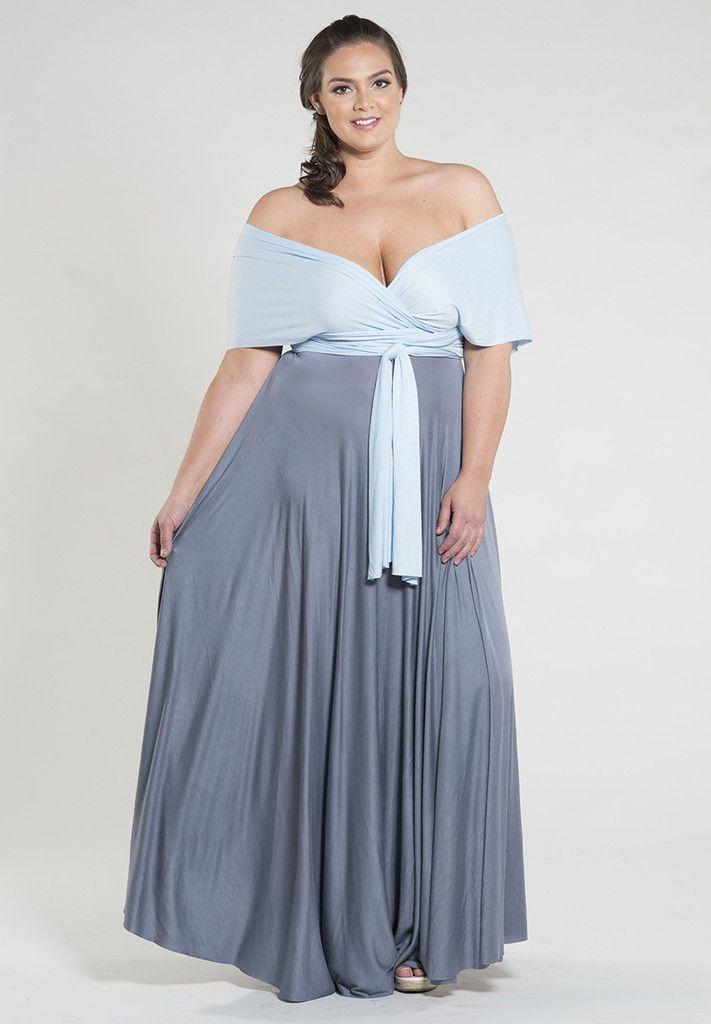 NEW Plus Size Eternity Convertible Duo Maxi Dress - Grey Sky Shop ...
