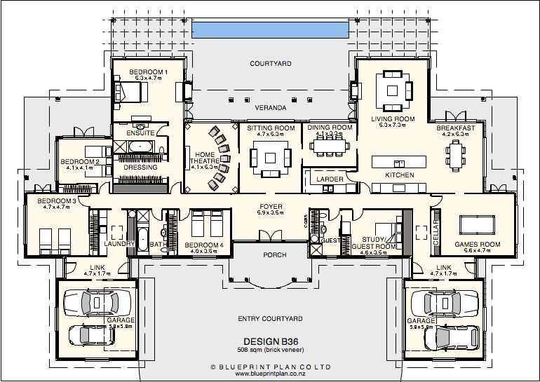 House plan with granny flat attached home photo style for Granny flat house plans